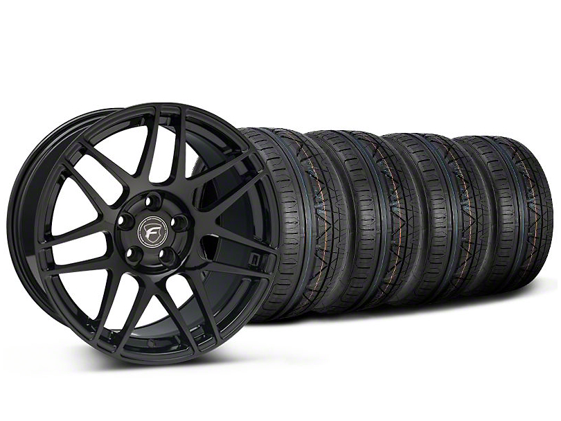 Forgestar F14 Monoblock Piano Black F14 Monoblock Wheel & NITTO INVO Tire Kit - 20x9 (05-14)