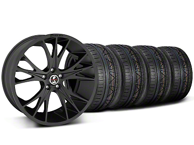 Shelby CS1 Matte Black Wheel & NITTO INVO Tire Kit - 20x9 (05-14 All)