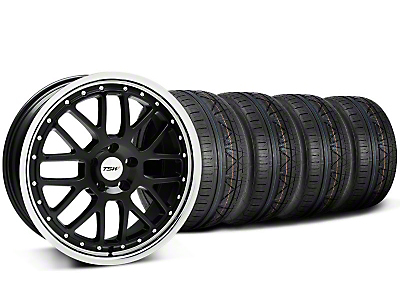 TSW Valencia Black w/ Polished Lip Wheel & NITTO Tire Kit - 20x8.5 (05-14)