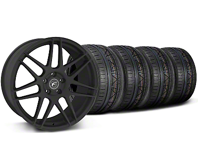 Forgestar F14 Monoblock Textured Black Wheel & NITTO Tire Kit - 20x9 (05-14)