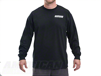 AmericanMuscle S197 Long Sleeve T-Shirt - Black