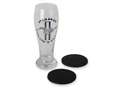 Ford Mustang Pilsner Glass and Coaster