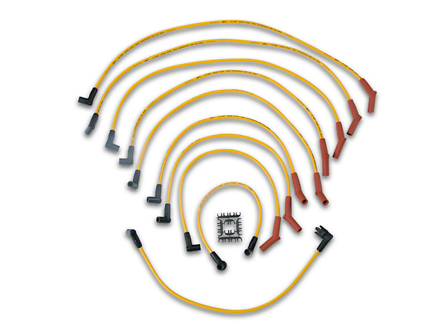 Accel Super Stock 8mm Spark Plug Wires - Yellow (86-93 5.0L)