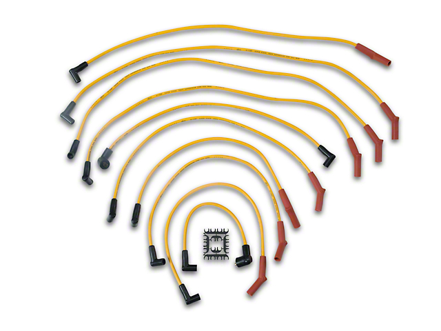 Accel Super Stock 8mm Spark Plug Wires - Yellow (79-85 5.0L)