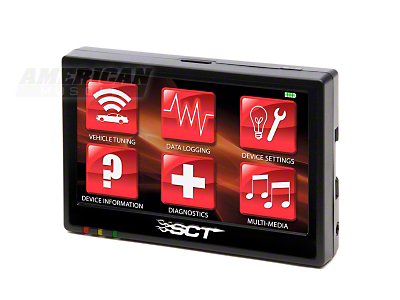 SCT TSX Touch-Screen Tuner w/ 3 Free Custom Tunes (11-13 V6)