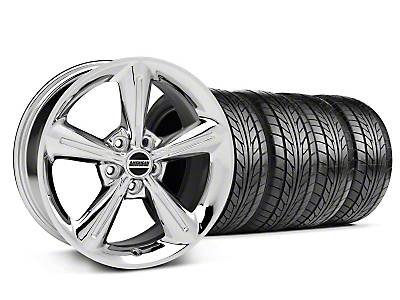 Staggered 2010 OE Style Chrome Wheel & NITTO Tire Kit - 18x8/10 (05-14 All)