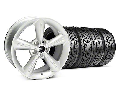 Staggered Silver 2010 OE Style Wheel & NITTO Tire Kit - 18x8/10 (05-14 All)