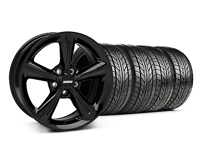 Staggered 2010 OE Black Wheel & NITTO Tire Kit - 18x8/10 (05-14 All)