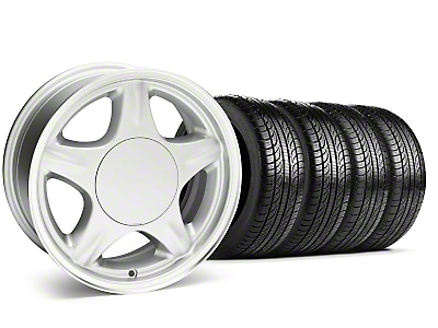 Pony Silver Wheel & Sumitomo Tire Kit - 16x7 (87-93; Excludes 93 Cobra)