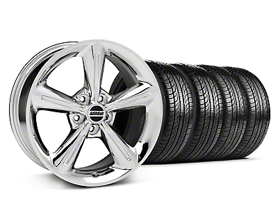2010 OE Chrome Wheel & Pirelli Tire Kit - 18x8 (05-14 V6, GT)