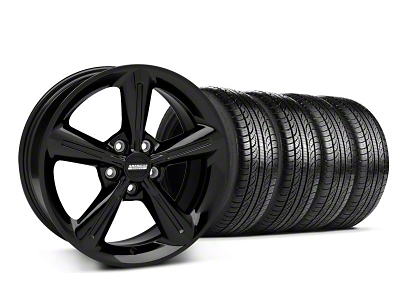 2010 OE Style Black Wheel & Pirelli Tire Kit - 18x8 (05-14 All)