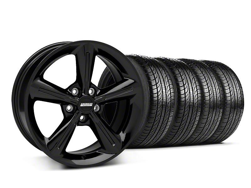 2010 OE Style Black Wheel & Pirelli Tire Kit - 18x8 (05-14 All)