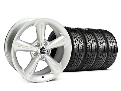 Silver 2010 OE Style Wheel & Pirelli Tire Kit - 18x8 (05-14 GT, V6)