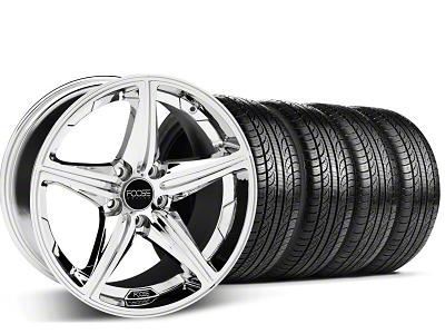 Foose Speed Chrome Wheel & Pirelli Tire Kit - 18x8 (05-14 GT, V6)