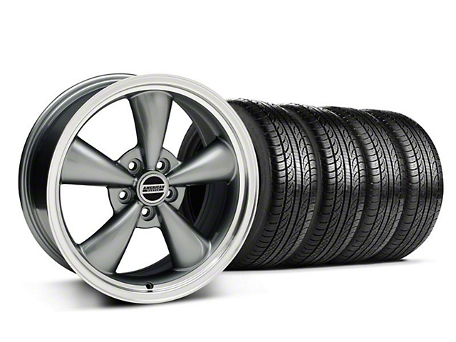 Bullitt Anthracite Wheel & Pirelli Tire Kit - 18x8 (05-14 GT, V6)