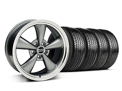 Anthracite Bullitt Wheel & Pirelli Tire Kit - 18x8 (05-14 GT, V6)