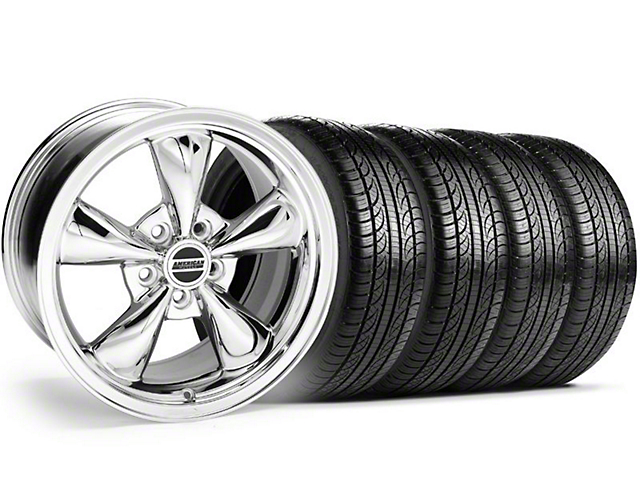 Bullitt Chrome Wheel & Pirelli Tire Kit - 18x8 (05-14 GT, V6)