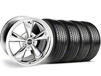 Chrome Bullitt Wheel & Pirelli Tire Kit - 18x8 (05-14 GT, V6)