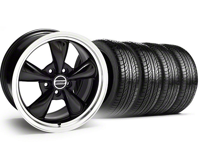 Bullitt Black Wheel & Pirelli Tire Kit - 18x8 (05-14 GT, V6)