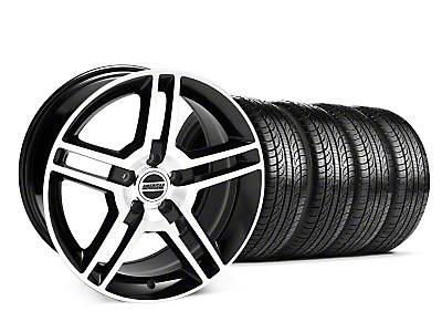 Staggered 2010 GT500 Black Machined Wheel & Pirelli Tire Kit - 19x8.5/10 (05-14 All)