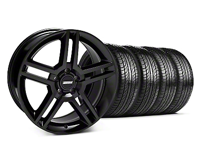 Staggered 2010 GT500 Black Wheel & Pirelli Tire Kit - 19x8.5/10 (05-14 All)