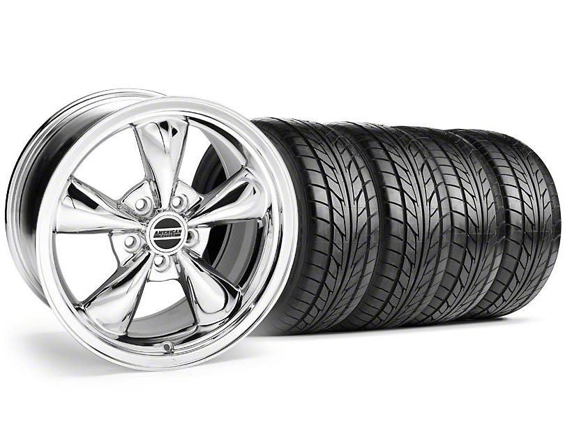 Bullitt Chrome Wheel & NITTO Tire Kit - 18x8 (05-14 GT, V6)
