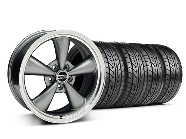 Bullitt Anthracite Wheel & NITTO Tire Kit - 18x8 (05-14 GT, V6)