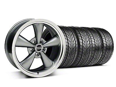 Anthracite Bullitt Wheel & NITTO Tire Kit - 18x8 (05-14 GT, V6)