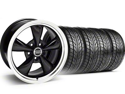 Bullitt Black Wheel & NITTO Tire Kit - 18x8 (05-14 GT, V6)