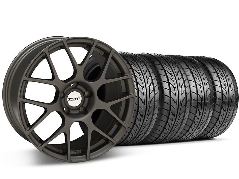 TSW Nurburgring Matte Gunmetal Wheel & NITTO Tire Kit - 18x8 (05-14 All)