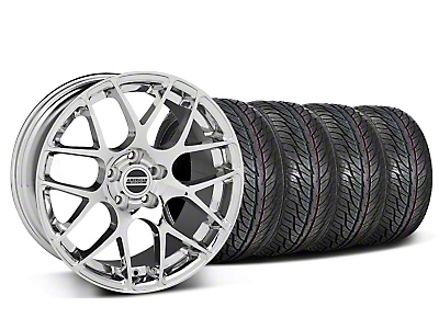 Staggered Chrome AMR Wheel & General Tire Kit - 19x8.5/9.5 (05-13 All)