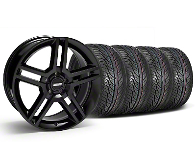 Staggered Black 2010 Style GT500 Wheel & General Tire Kit - 19x8.5/10 (05-14 All)