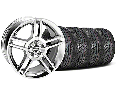 Staggered 2010 GT500 Chrome Wheel & General Tire Kit - 19x8.5/10 (05-14 All)