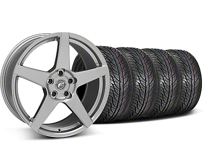 Forgestar Staggered CF5 Gunmetal Wheel & General Tire Kit - 19x9/10 (05-14 All)
