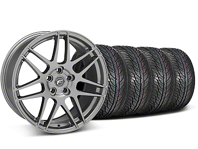 Forgestar Staggered F14 Gunmetal Wheel & General Tire Kit - 19x9/10 (05-14 All)