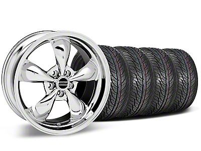 Staggered Bullitt Chrome Wheel & General Tire Kit - 19x8.5/10 (05-14 All)