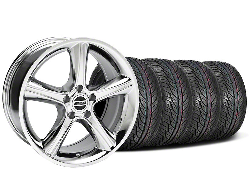 Staggered GT Premium Chrome Wheel & General Tire Kit - 19x8.5/10 (05-14 All)