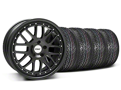 TSW Staggered Valencia Matte Black Wheel & General Tire Kit - 19x8/9.5 (05-14 All)