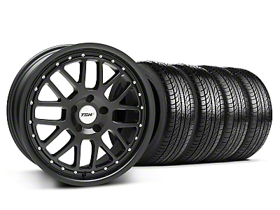 TSW Valencia Matte Black Wheel & Pirelli Tire Kit - 19x8 (05-14)