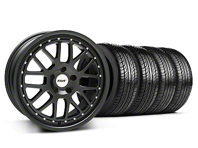 TSW Staggered Valencia Matte Black Wheel & Pirelli Tire Kit - 19x8/9.5 (05-14 GT, V6)