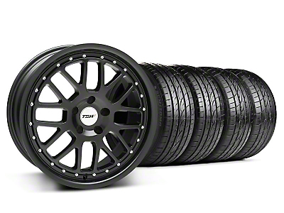 Staggered Matte Black TSW Valencia & Sumitomo Tire Kit - 19x8/9.5 (05-14 All)