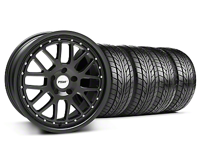 TSW Staggered Valencia Matte Black Wheel & NITTO Tire Kit - 20x8.5/10 (05-14 GT, V6)