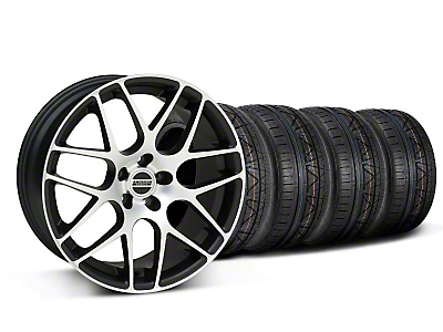 Matte Black Machined AMR Style Wheel & NITTO Invo Tire Kit -18x9 (05-13 All)