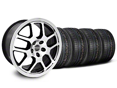 Black Machined 2007 GT500 Mustang Wheel & NITTO Invo Tire Kit - 18x9.5 (05-13 All)