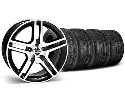 Staggered 2010 GT500 Black Machined Wheel & NITTO INVO Tire Kit - 18x9/10 (05-14 All)