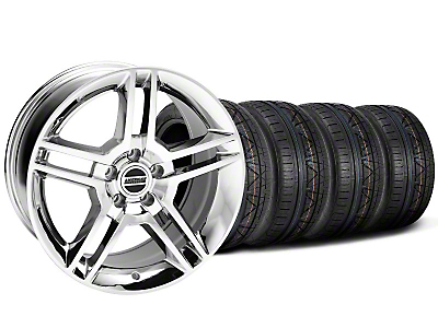 Staggered 2010 GT500 Chrome Wheel & NITTO INVO Tire Kit - 18x9/10 (05-14 All)