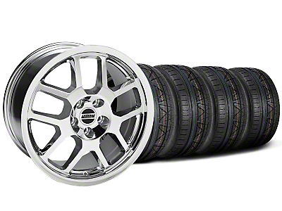 Chrome 2007 GT500 Mustang Wheel & NITTO Invo Tire Kit - 18x9.5 (05-13 All)