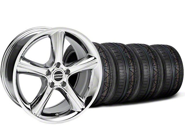 Staggered 2010 GT Premium Style Chrome Wheel & NITTO INVO Tire Kit - 18x9/10 (05-14 All)