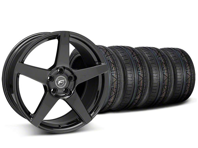 Forgestar CF5 Monoblock Piano Black Wheel & NITTO INVO Tire Kit - 18x9 (05-14 All)