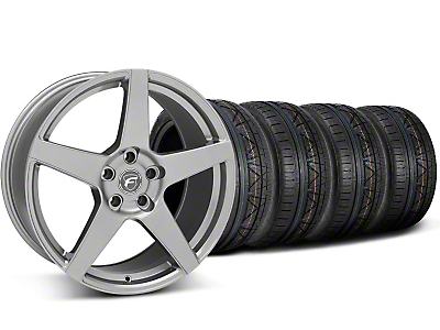 Staggered Gunmetal Forgestar CF5 Monoblock Wheel & Nitto Invo Tire Kit - 18x9/10 (05-14 All)